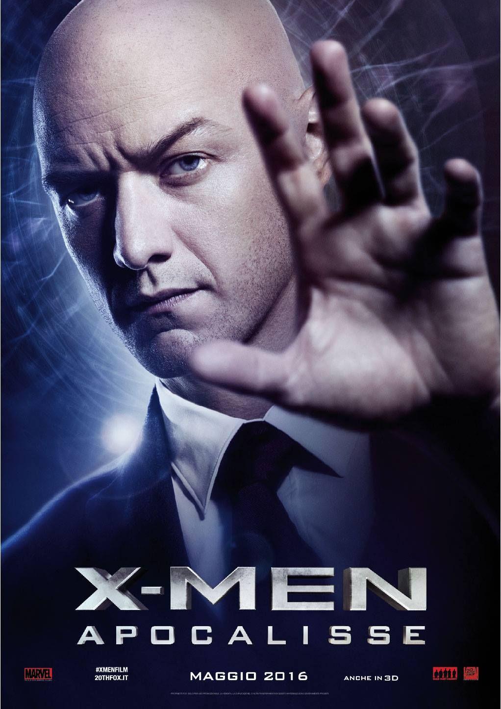 X Men Apocalypse Charles Xavier Italian Promo Poster Xmen Apocalypse X Men Apocalypse X Men