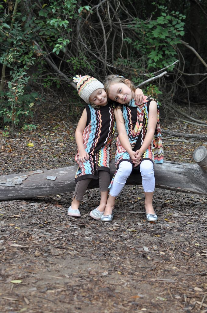 my girls in their missoni for target dresses, my favorite subjects, now one of my favorite photos