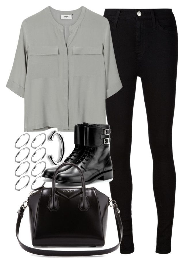 """""""Untitled #3622"""" by plainly-marie ❤ liked on Polyvore featuring ASOS, AG Adriano Goldschmied, PYRUS, Yves Saint Laurent, Givenchy and Gucci"""