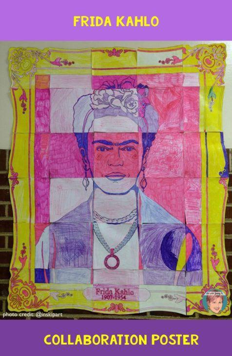 Photo of Frida Kahlo Collaborative Poster – Fun Hispanic Heritage Month Activity!