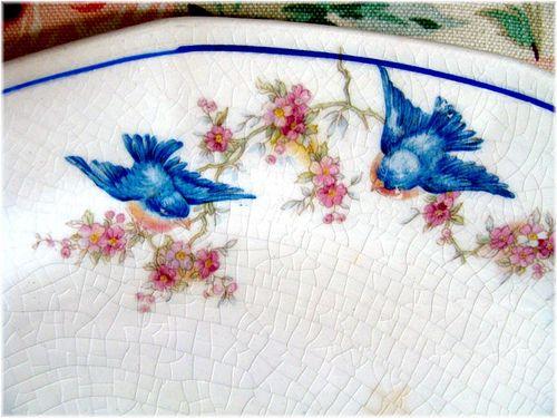 Vintage Bluebird Platter