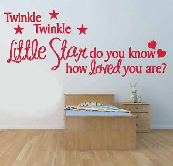 Twinkle Twinkle Little Star Vinyl Wall Art Sticker Decal | Fabulous ...
