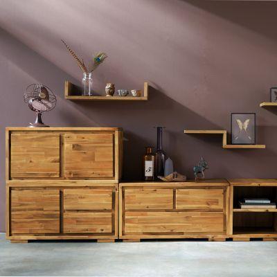 Buffet 3 Suisses Meuble 3 Tiroirs Kewan En Acacia Massif Iziva Com Furniture Home Decor Decor