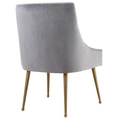 Brightening House Modern Velvet Dining Chair Gray