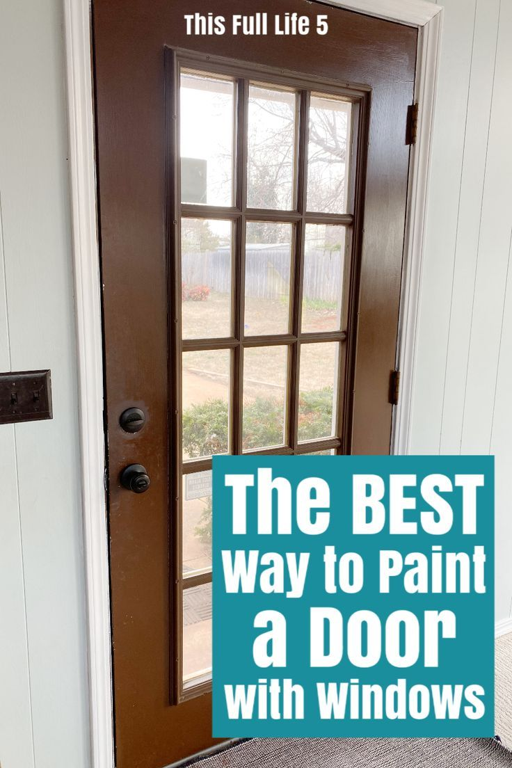 how to paint a door with windows