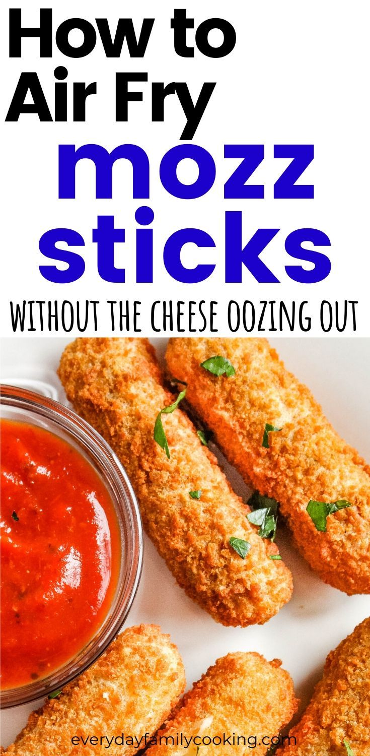 How to Make Air Fryer Mozzarella Sticks Without the Cheese ...