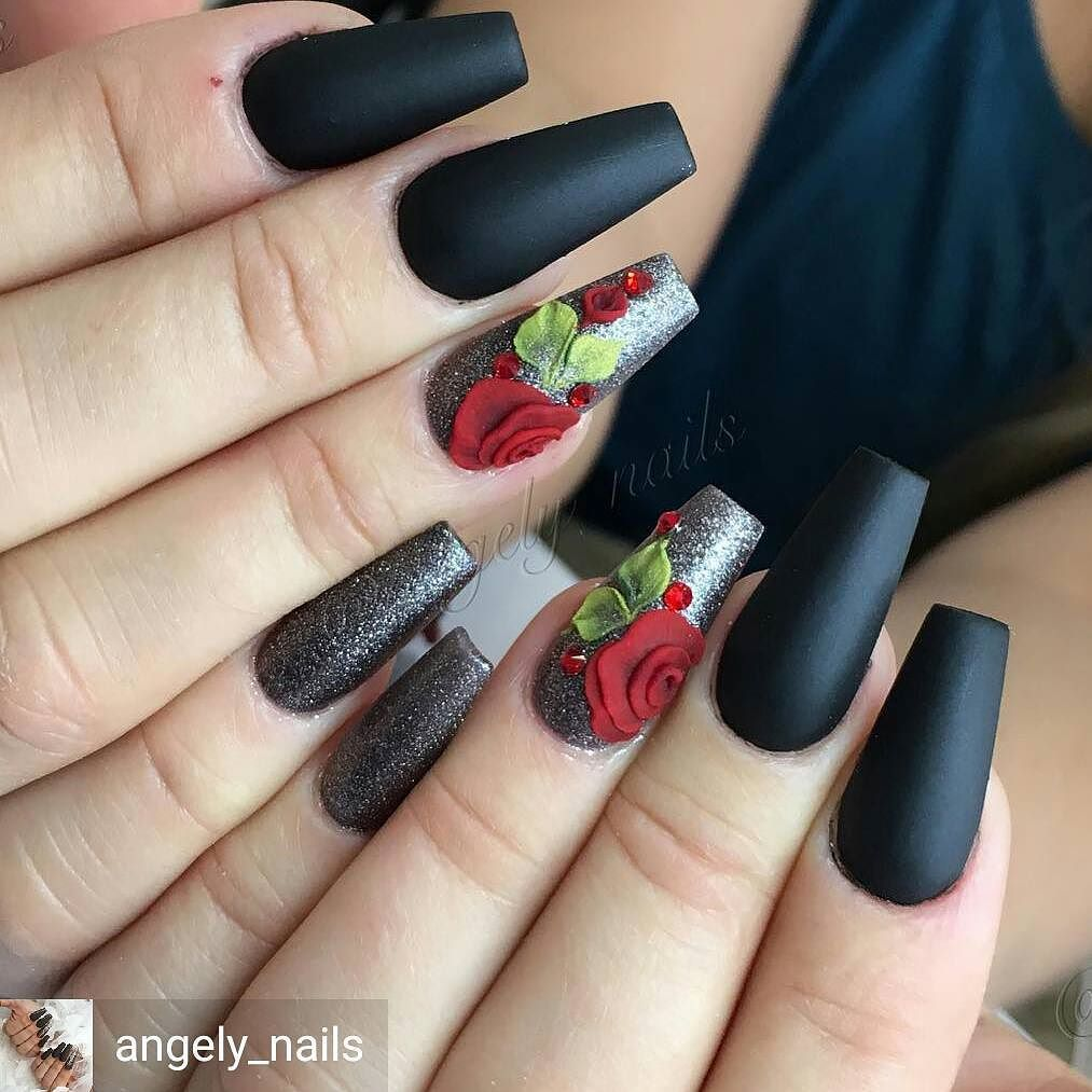 Amazing nail art made using tones products uas negras marrones amazing nail art made using tones products prinsesfo Gallery