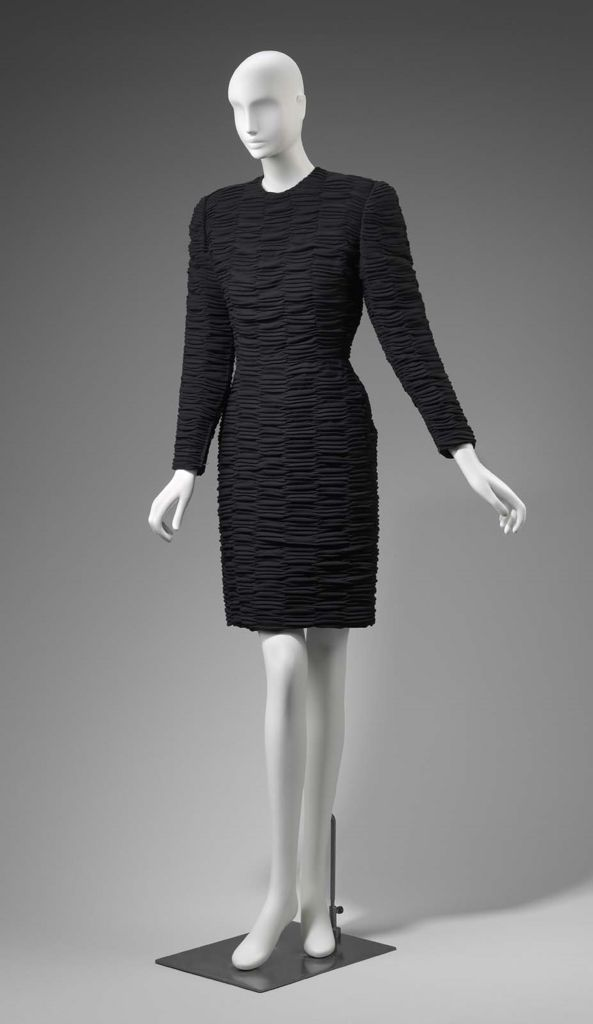 1980s America Womans Evening Dress By Arnold Scaasi Wool Plain