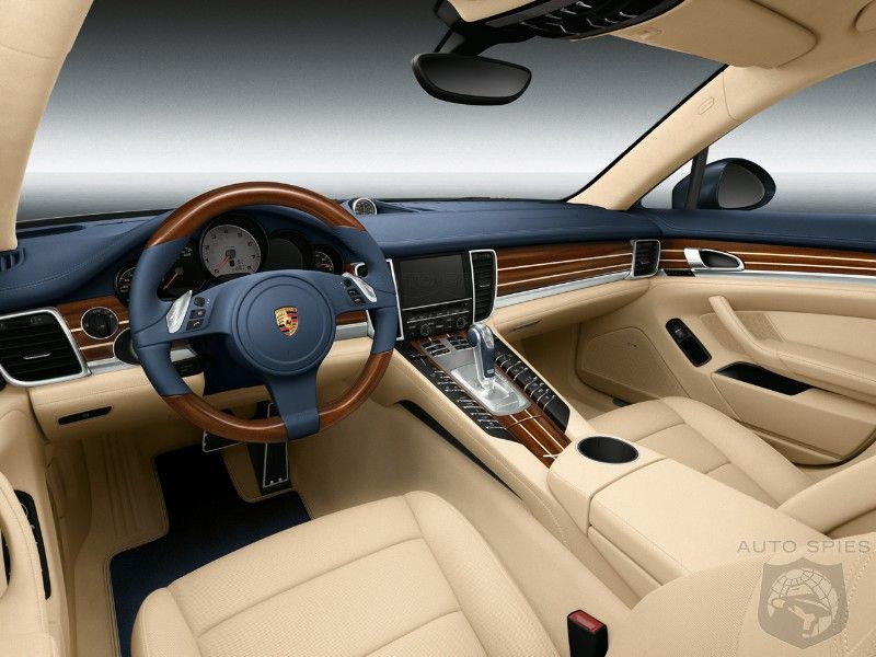 Porsche Panamera Yachting Blue/Cream and Mahogany
