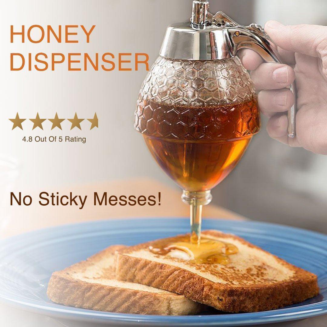 Elegant Crystal Honey Dispenser And Warmer Set   À acheter