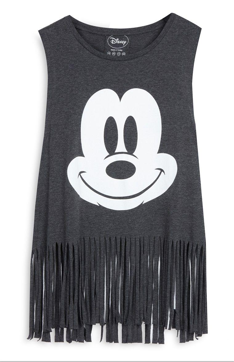 15c363bc7 Primark - Camiseta gris con flecos de Mickey 8e