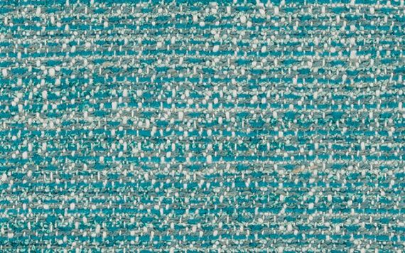 Chenille Soft White Green Grass Teal Geometric Pattern Upholstery Sofas Fabric