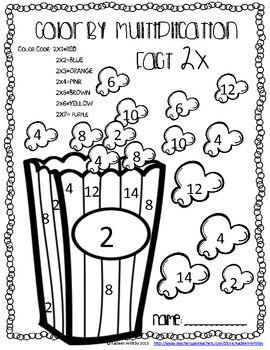 color by multiplication fact 2x freebie tpt free lessons math school homeschool math math. Black Bedroom Furniture Sets. Home Design Ideas