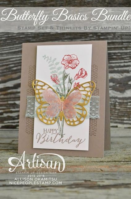 nice people STAMP!: Butterfly Basics Bundle Card: Fancy Friday Blog Hop
