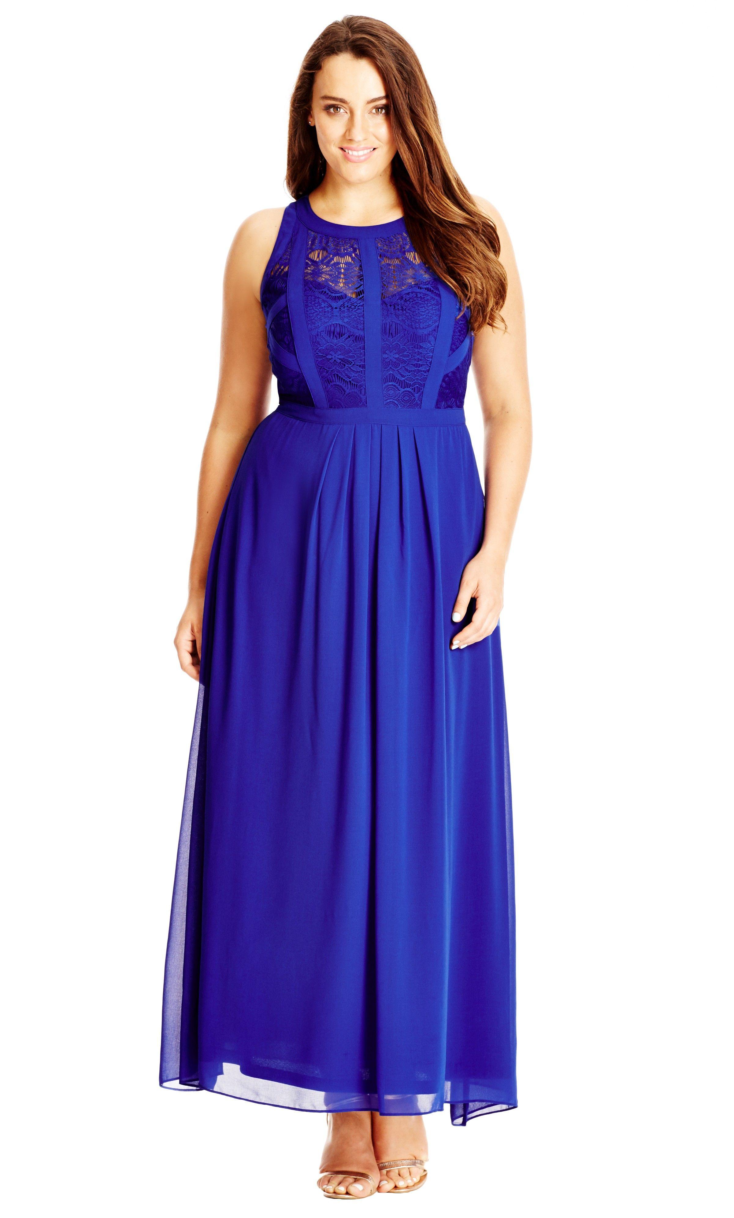 Women's Plus Size Panelled Bodice Maxi Dress - Lagoon   City Chic ...