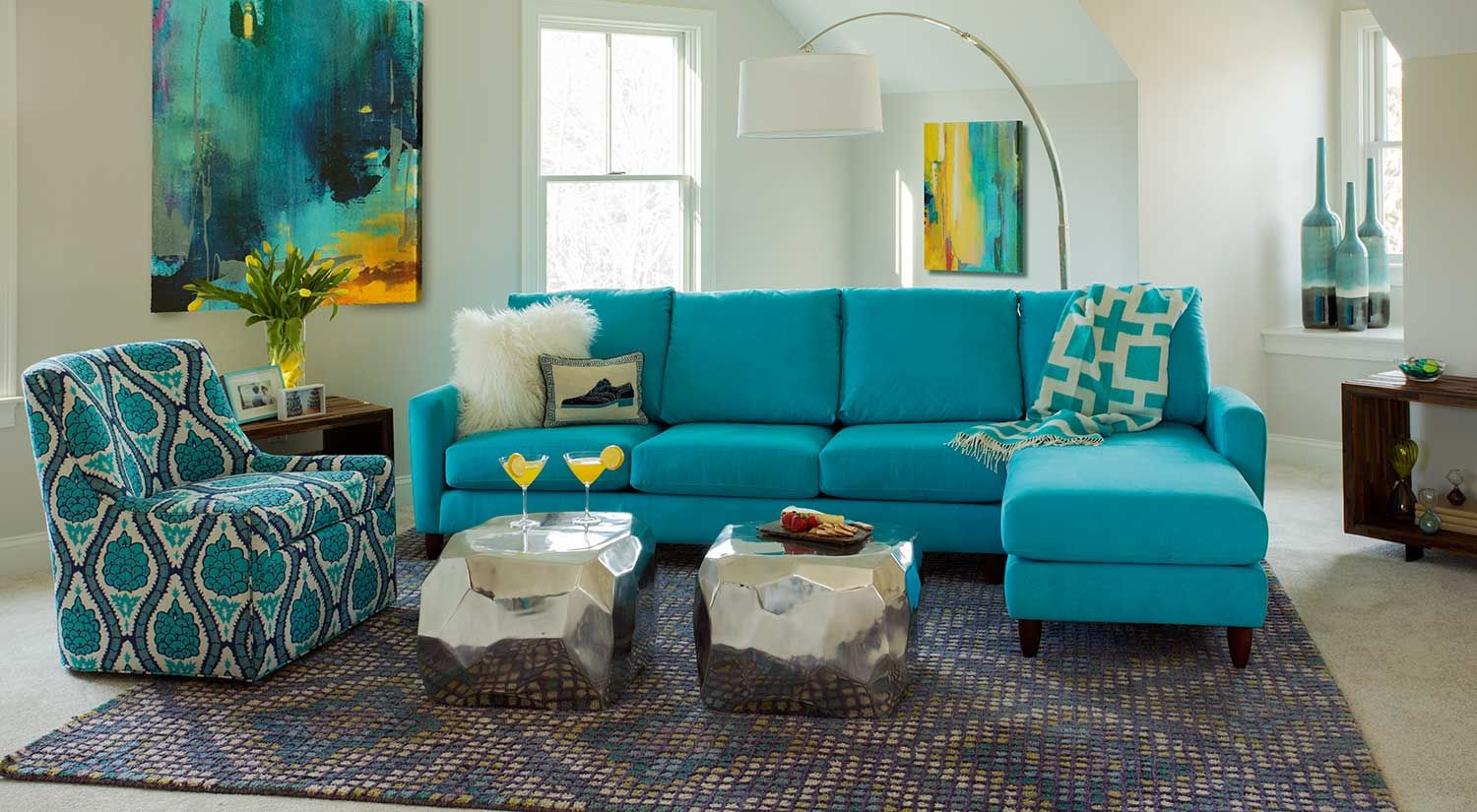 Nice Teal Blue Sectional Sofa Awesome Teal Blue Sectional Sofa