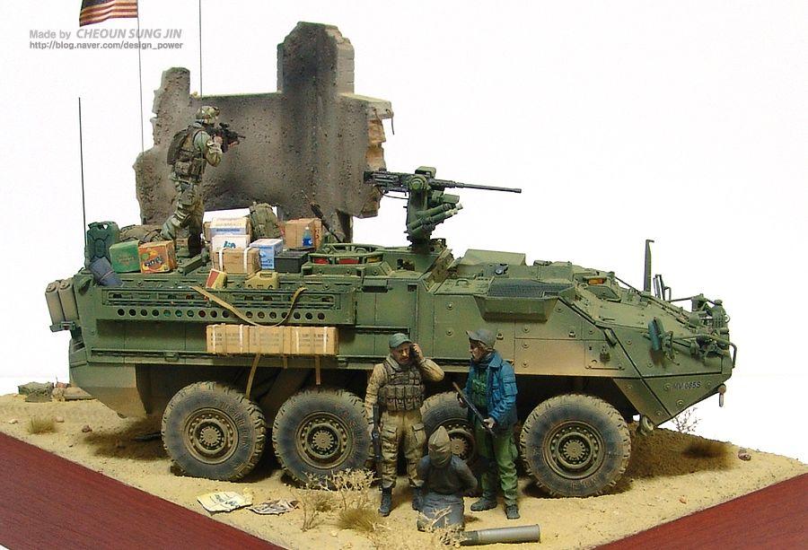 Stryker Diorama | Model tanks, Scale models, Military diorama