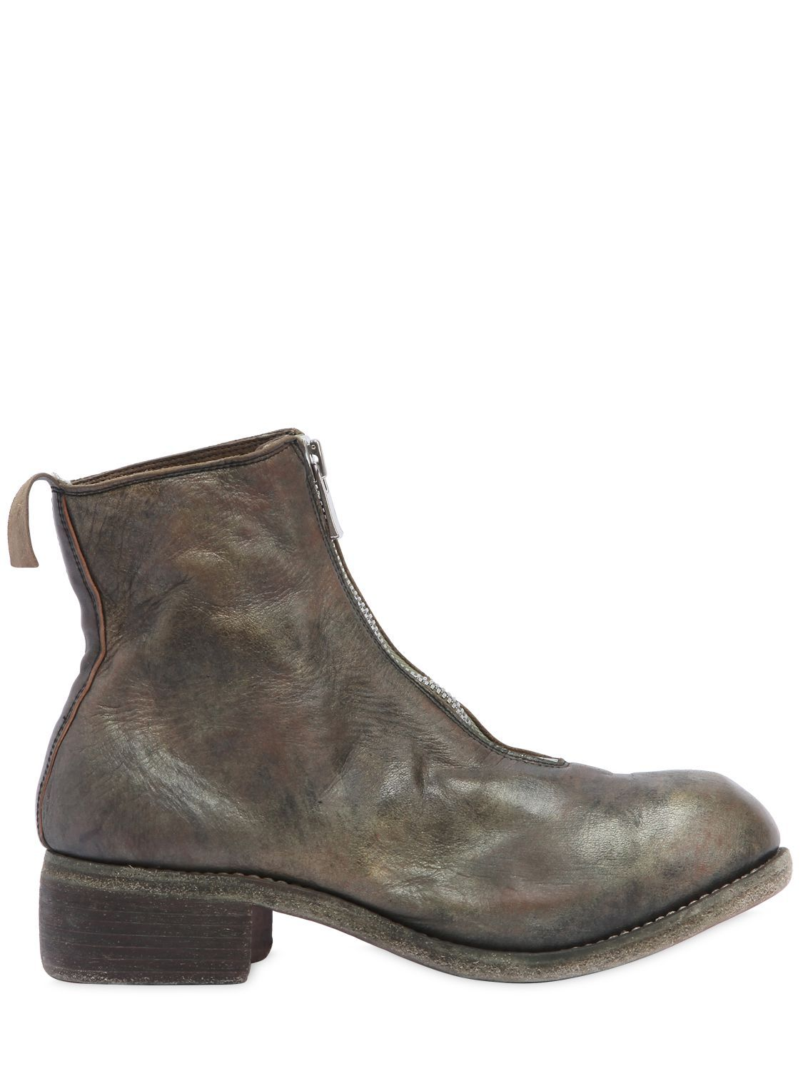 GUIDIPL1 ZIP-UP FULL GRAIN LEATHER BOOTS AEmwz8JOpK