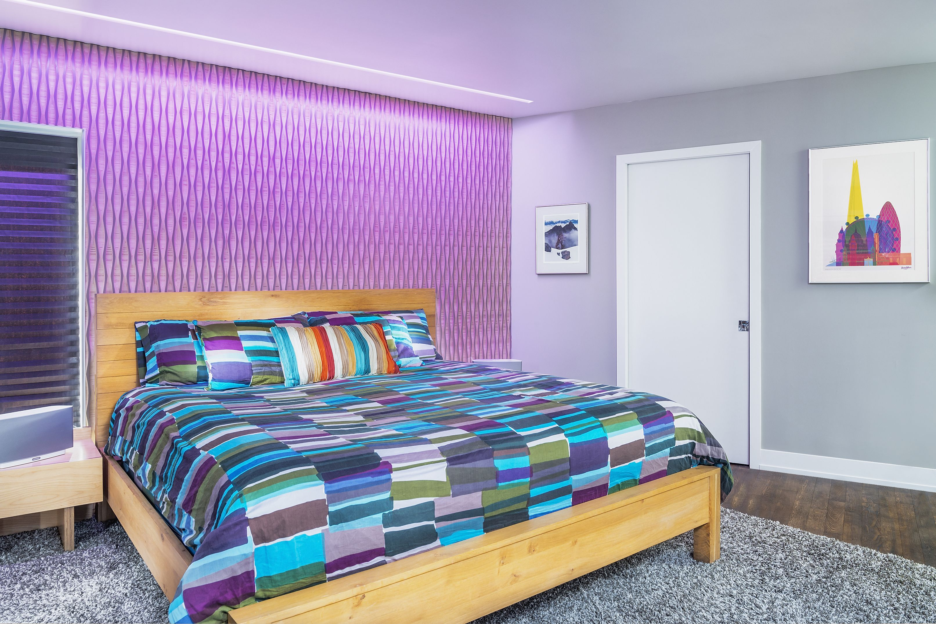 Reveal wall wash led lighting for bedrooms by pure lighting