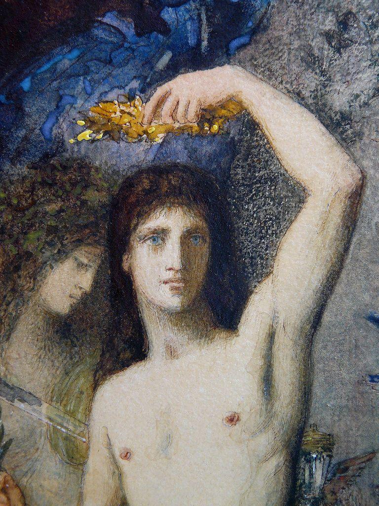 Moreau Gustave 1881 Le Jeune Homme Et La Mort Drawings Dessin