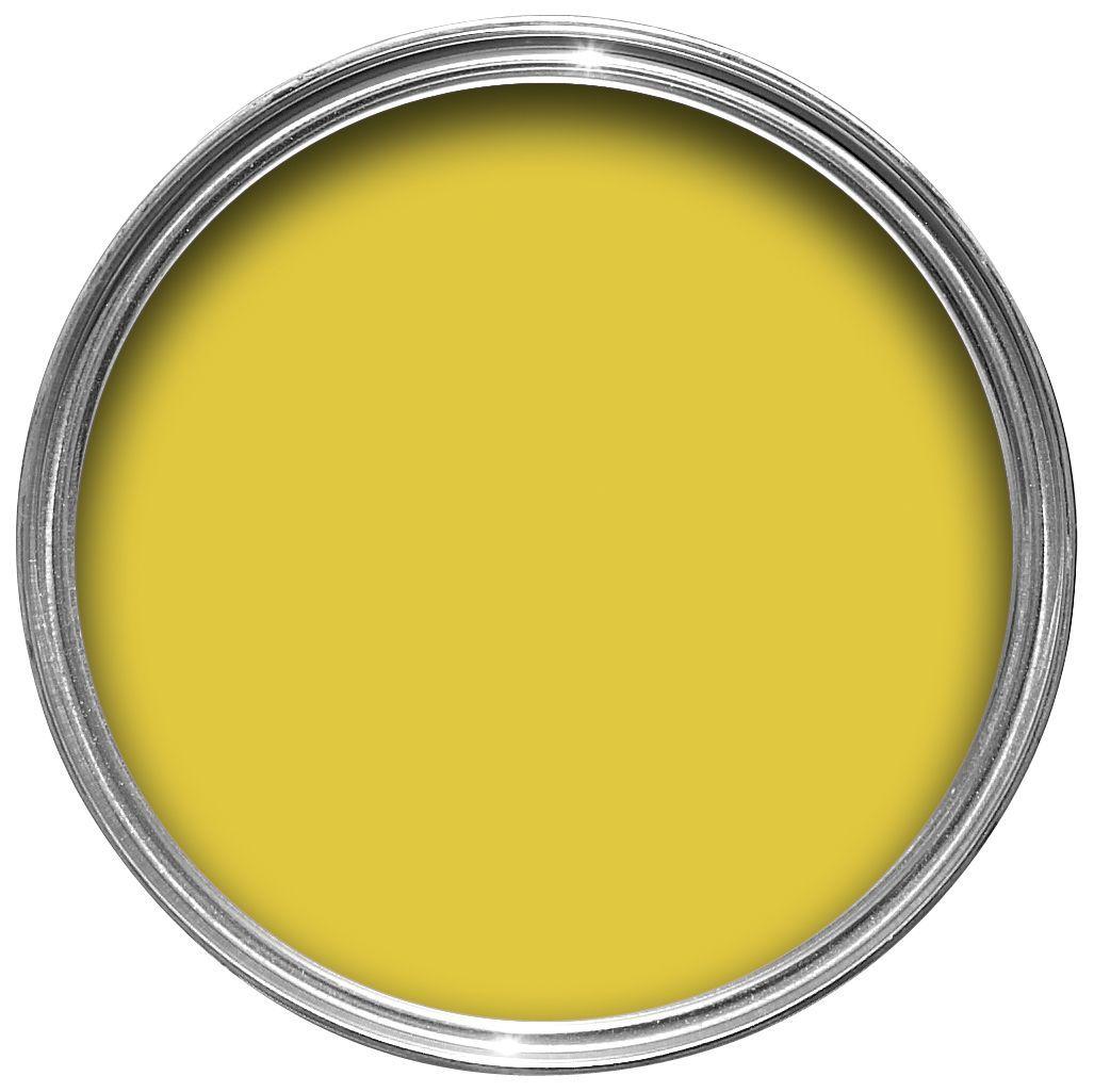 dulux feature wall lemon punch matt emulsion paint. Black Bedroom Furniture Sets. Home Design Ideas