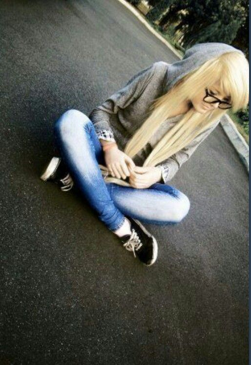 #blonde #shoes #outfit #glasses