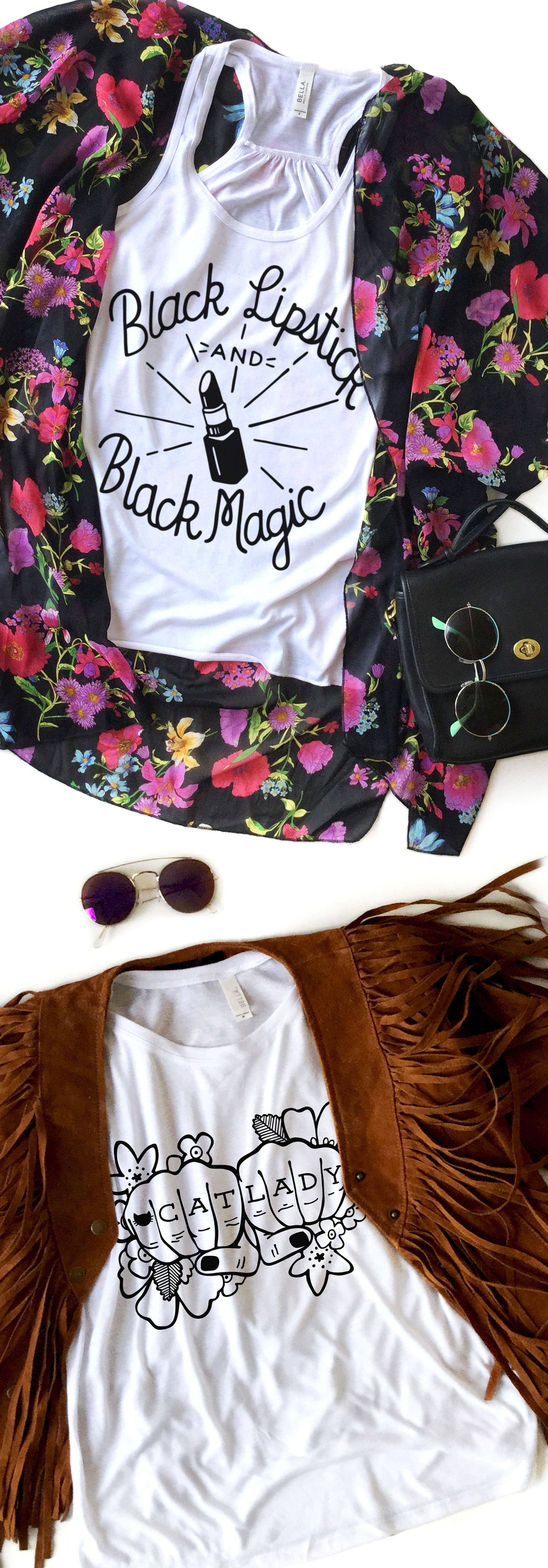 Spring outfits are all we can think about! teesandtankyou.com