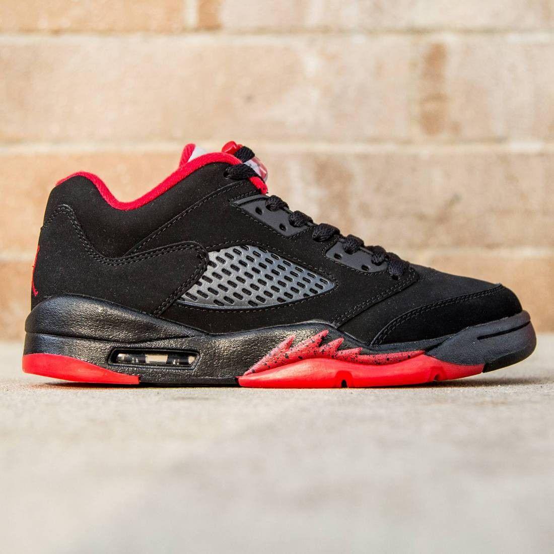 new arrival dfffd 6568d Air Jordan 5 Retro Low GS Big Kids (black   gym red   black)