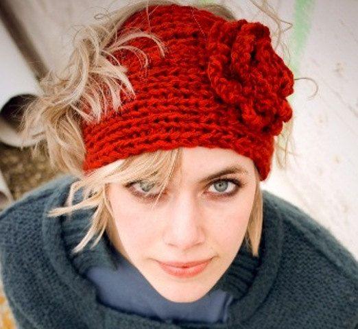 Flower headband knit pattern crochet hats scarves and wraps flower headband knit pattern dt1010fo