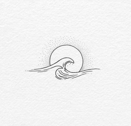 Super Tattoo Wave Minimalist Tat Ideas