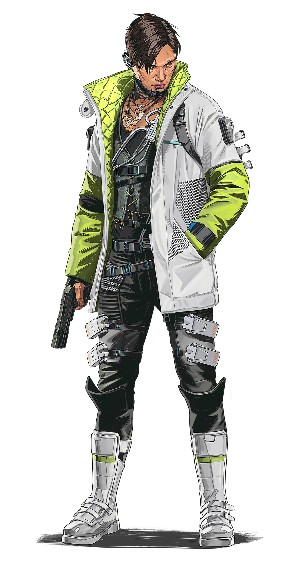 Crypto Apex Legends Jacket Video Game Jacket Crypto Apex Legends Character Design Cyberpunk Character