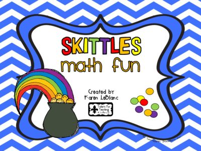 SKITTLES+Math+Fun+from+Karen+LeBlanc+on+TeachersNotebook.com+-++(17+pages)++-+Yummy+math+activities+with+SKITTLES!+Packet+includes+activities+for+sorting,+tallying,+patterning,+graphing,+adding,+subtracting,+estimating,+and+fractions.+Partner+games+too!
