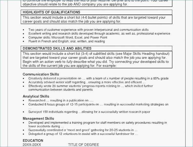 78 Best Of Photos Of Example Of Computer Skills List For Resume