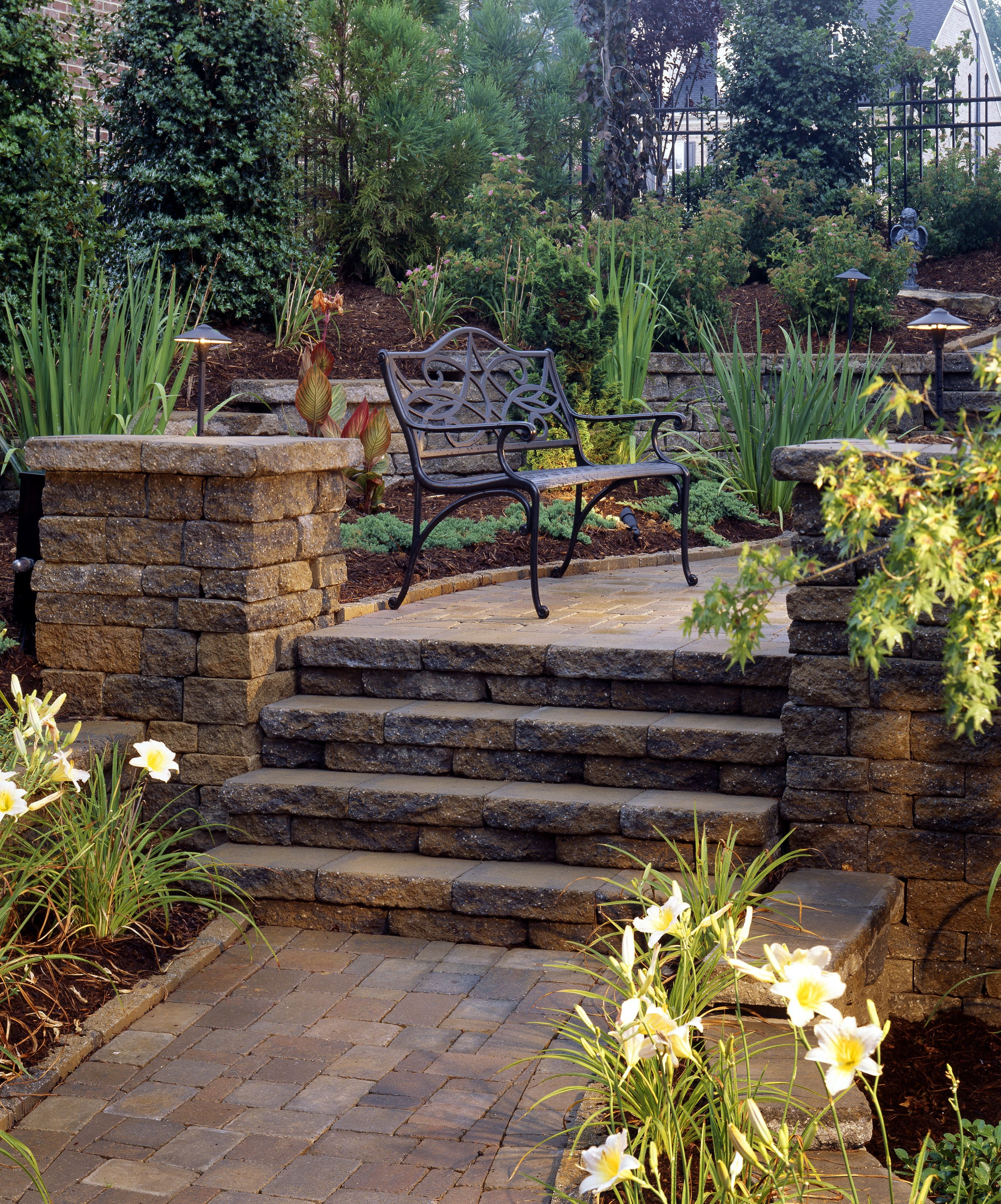 Backyard Steps Ideas: Dublin Celtic Belgard Pavers For Steps And Hardscape