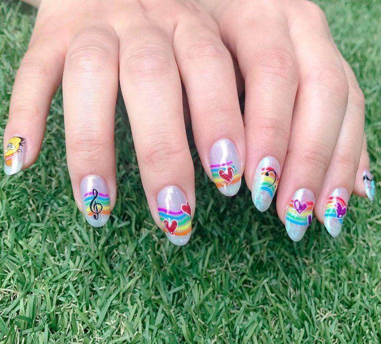 diseño de uñas arcoiris | Uñas lindas | Pinterest | Diseños de uñas ...