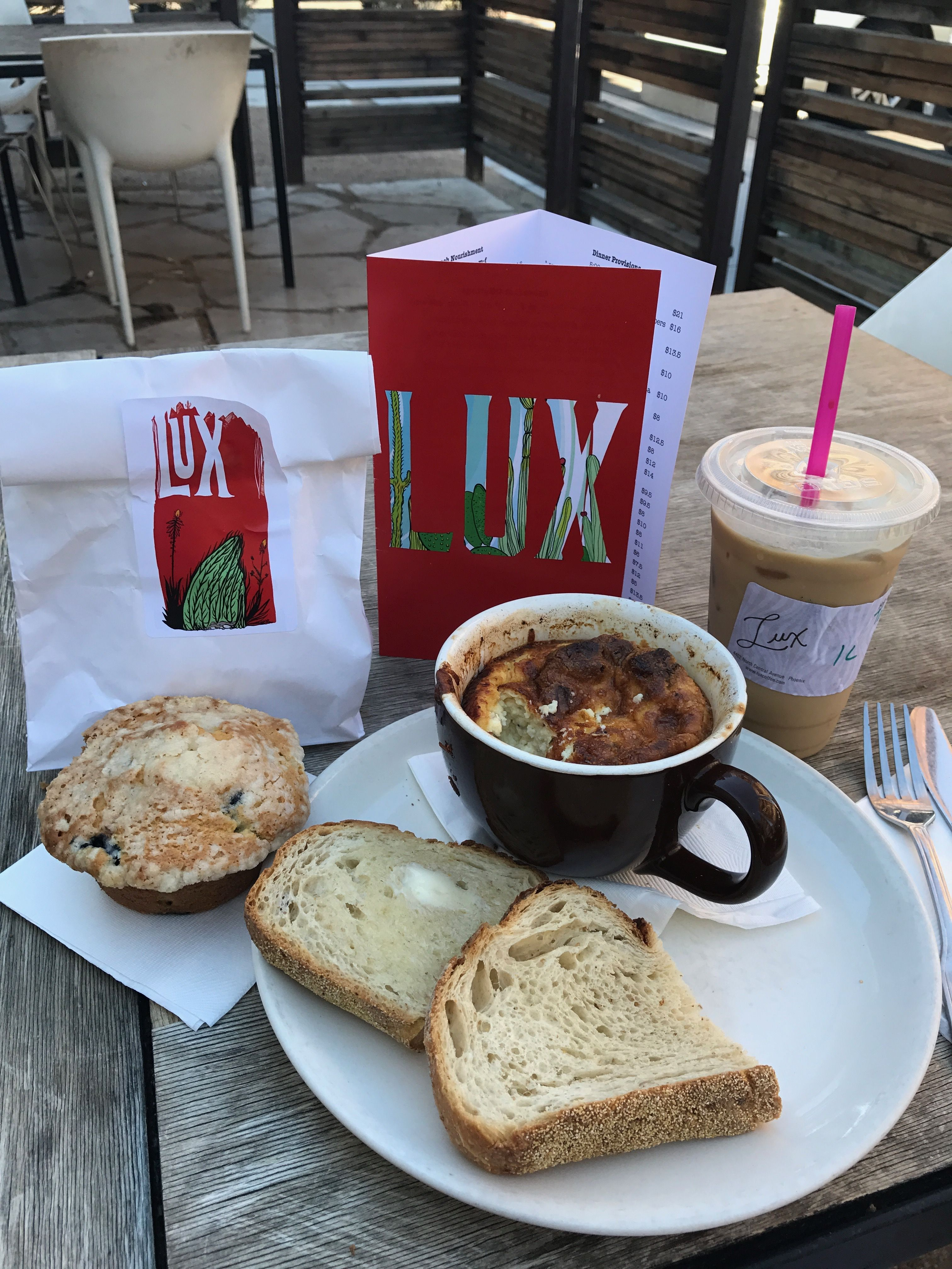 LUX Central Ask for a large iced coffee with a dollop of