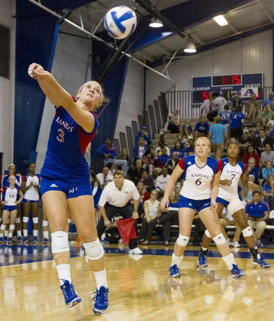 Love Kansas Volleyball Vintage Movies Ku Sports Volleyball