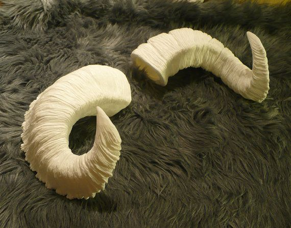 144c9149a0a Large Customizable Plastic Resin Ram Horns by idolatre on Etsy
