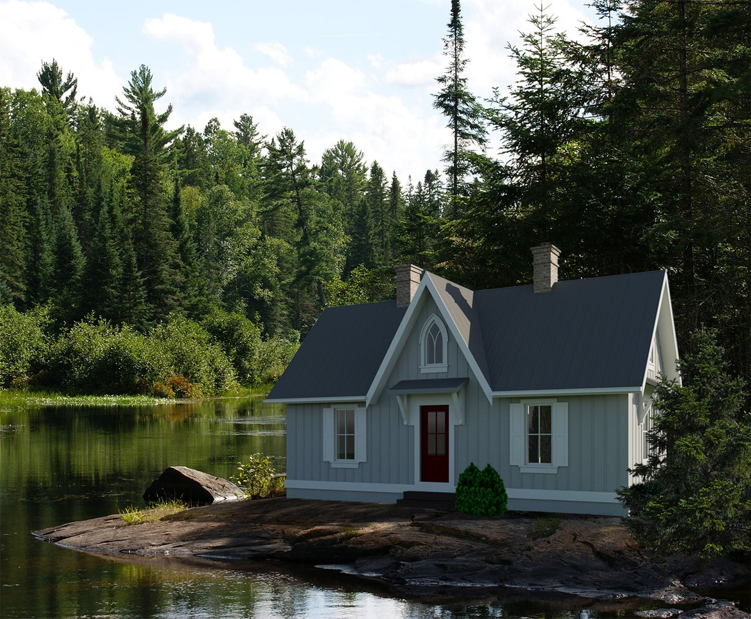 Ontario-504 - Robinson Plans | Small cottages, Small house plans, Tiny  house plan
