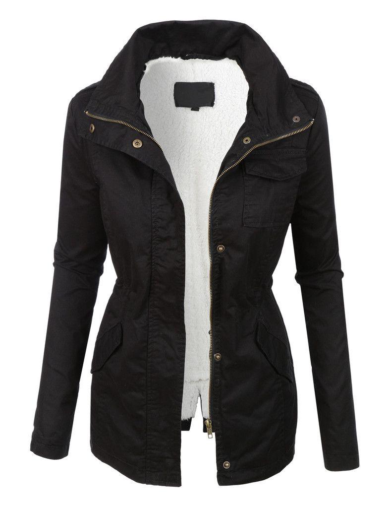 Sherpa lined jacket women