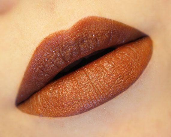 Burnout Semi Matte Dark Burnt Orange Lipstick By BeautyUndead