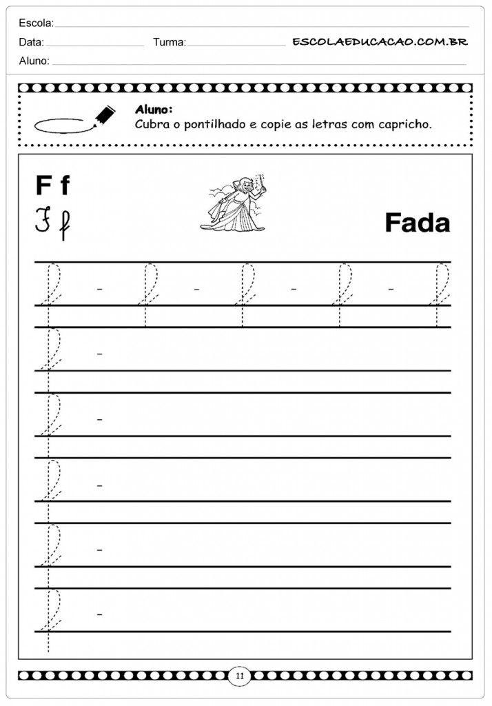 Letra F Atividade Letra H Alfabeto Cursivo Atividades Com