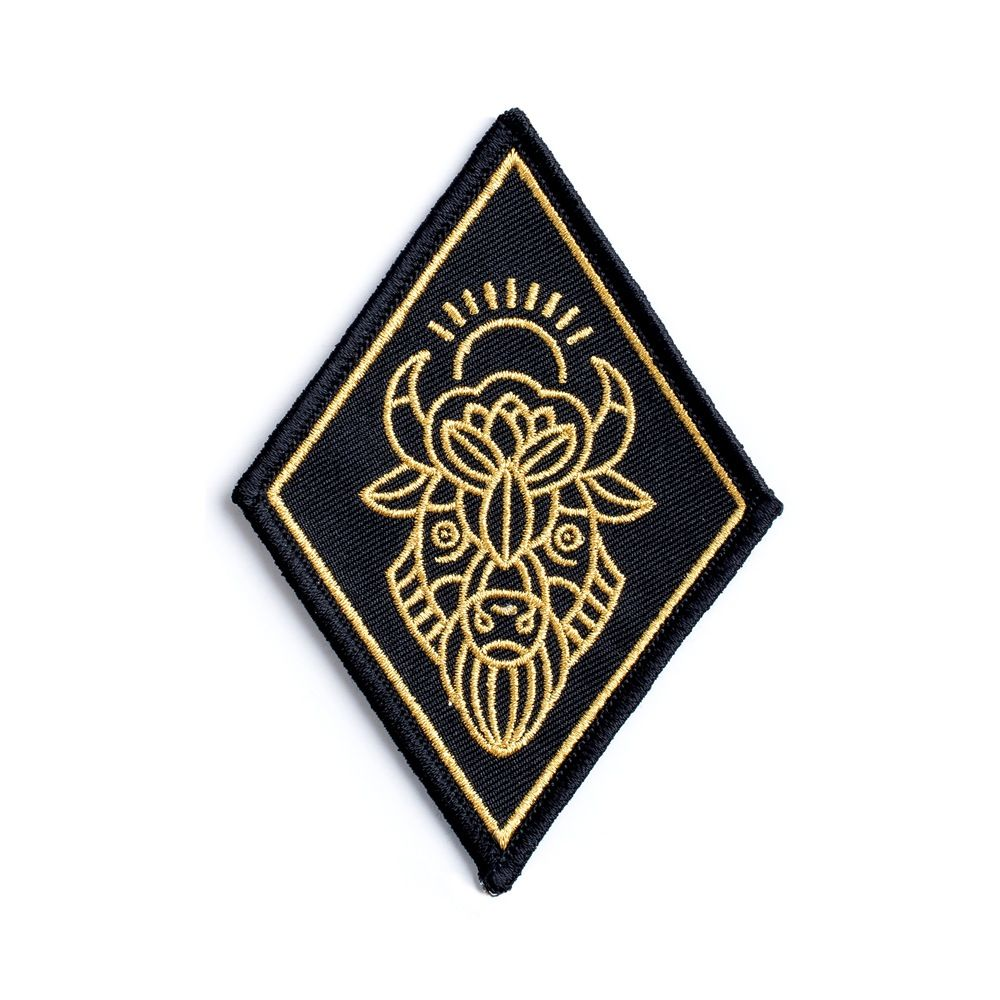 Iron On Shiny Gold Buffalo Embroidery Applique Patch Sew Iron Badge