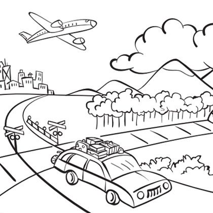 Airplanes coloring pages » Free & Printable » Airplane coloring sheets | 420x420