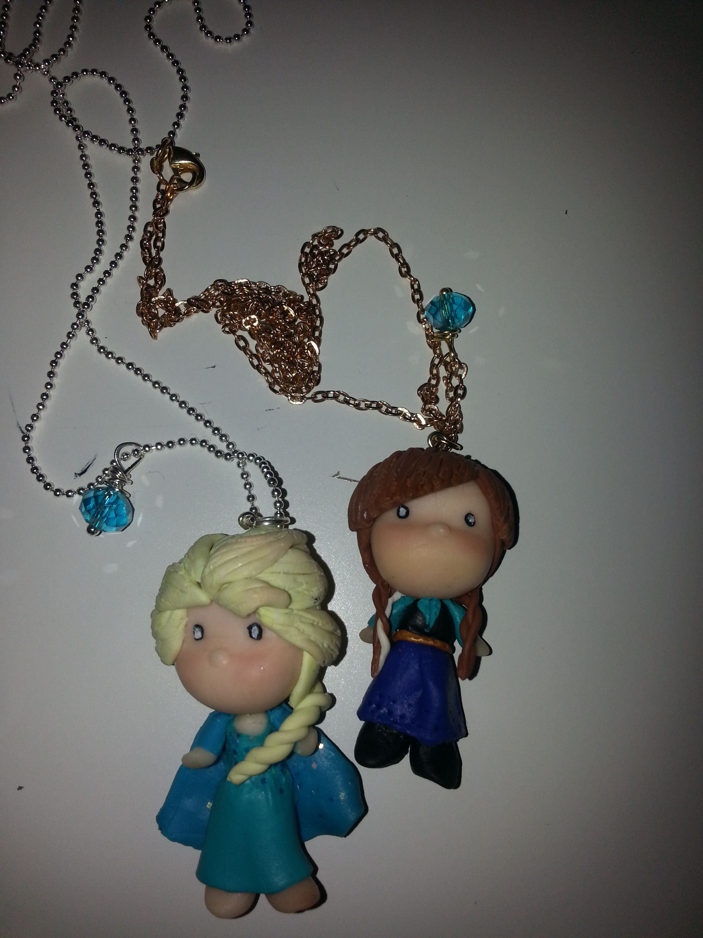 Niki jewelry ideas- anna e elsa fimo