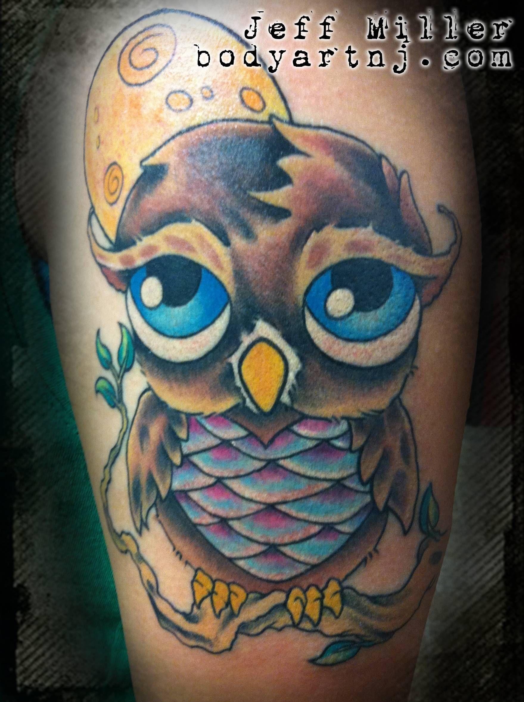 Big Eyed Owl Owl Tattoo Owl Skull Tattoo