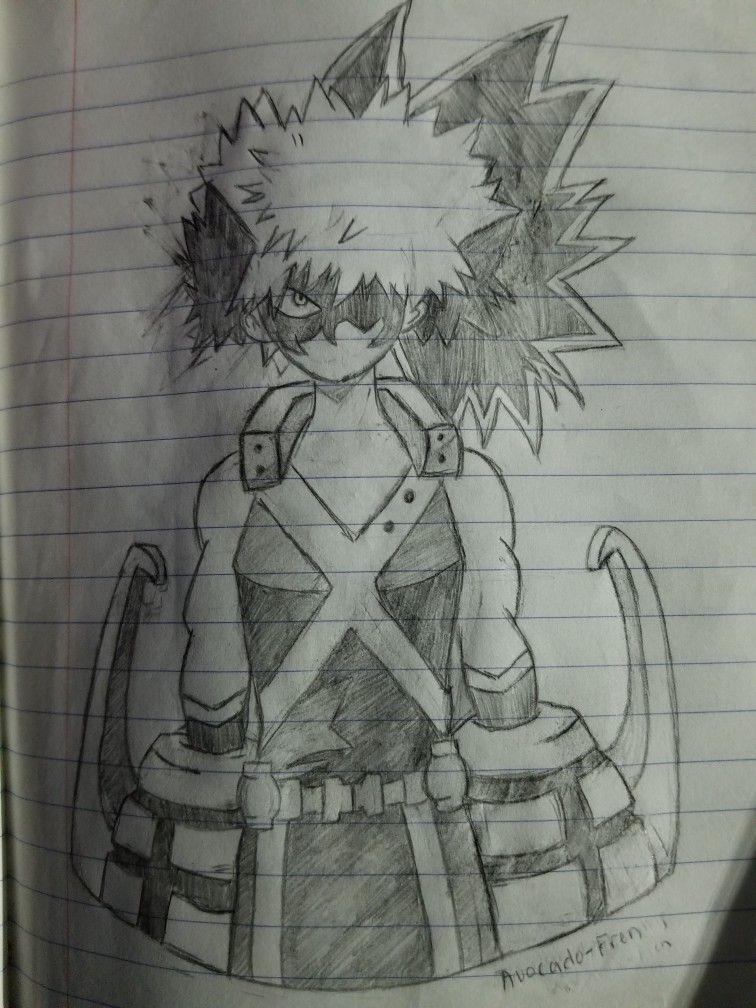 Bakugou Katsuki Pencil Drawing Pencil Drawings Drawings My Drawings