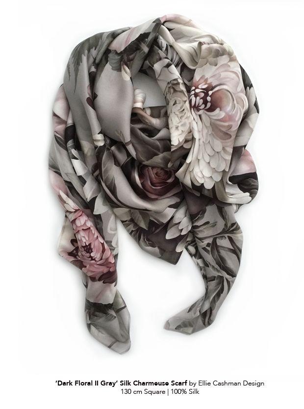 Silk Scarves Gaya Hijab Inspirasi Kain