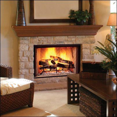 Wood Burning Fireplace Stone Fireplace Designs Wood Burning