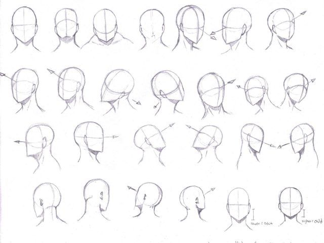Image Result For Drawing Manga Heads From Different Angles Drawing